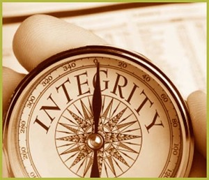 Business and Personal integrity is like following a compass.