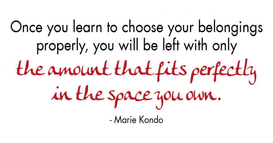 quote from Marie Kondo