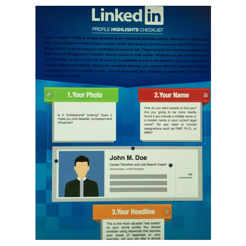 LinkedIn Profile Highlights Checklist