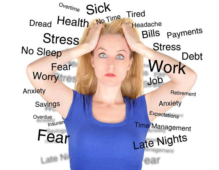 woman feeling stressed out