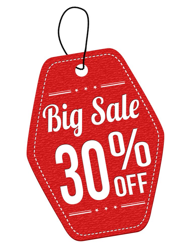 big sale 30 off
