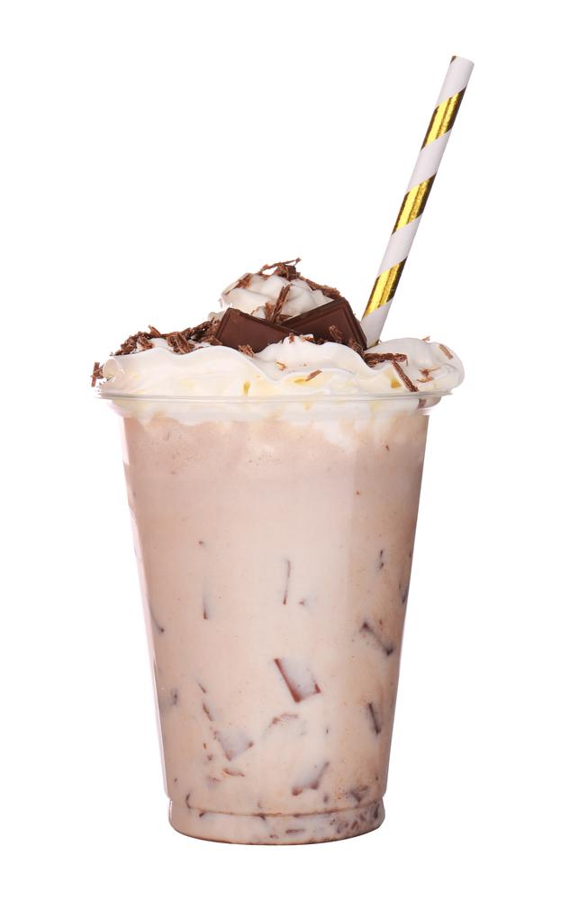 Chocolate Milkshake in a plastic cup