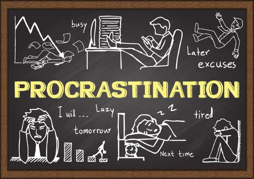 doodles about procrastination
