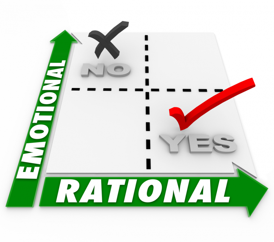 emotional vs. rational on a matrix of choices