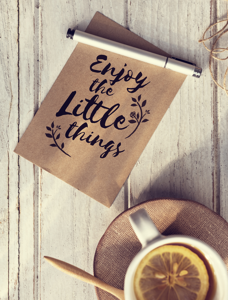 Enjoy the Little Things note