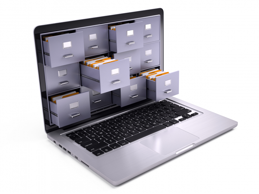 File Cabinets inside a laptop