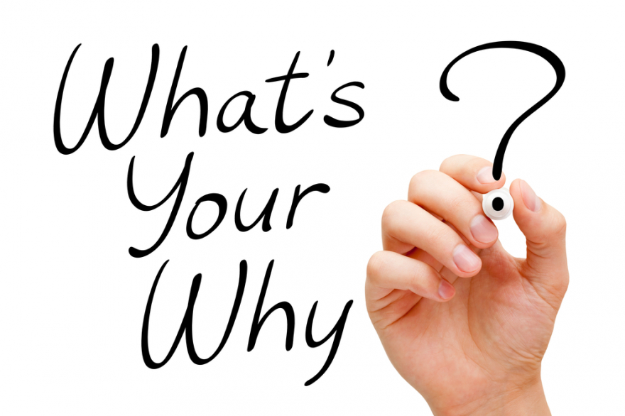 existential question What is your Why written in black marker
