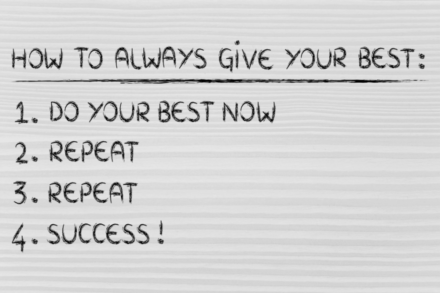 How to give your best