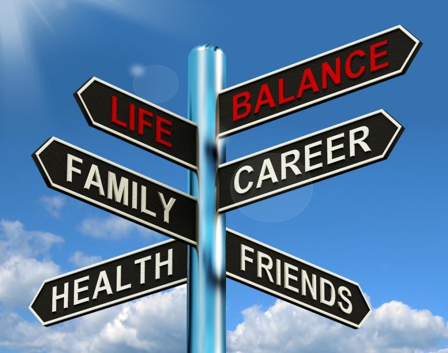 life balance sign post