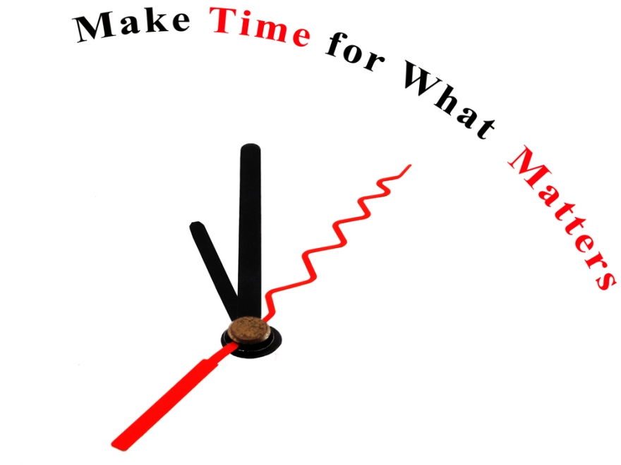 Make time for what matters on a clock face