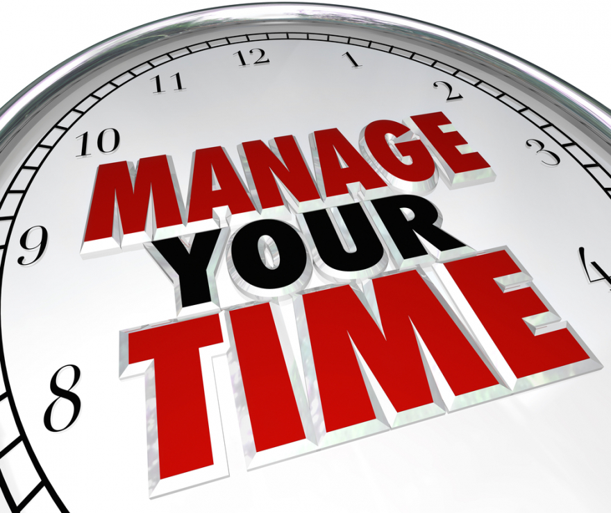 manage your time on a clock