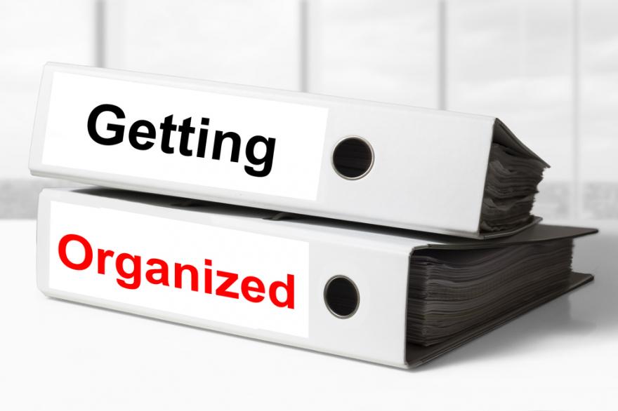 office binder's getting organized