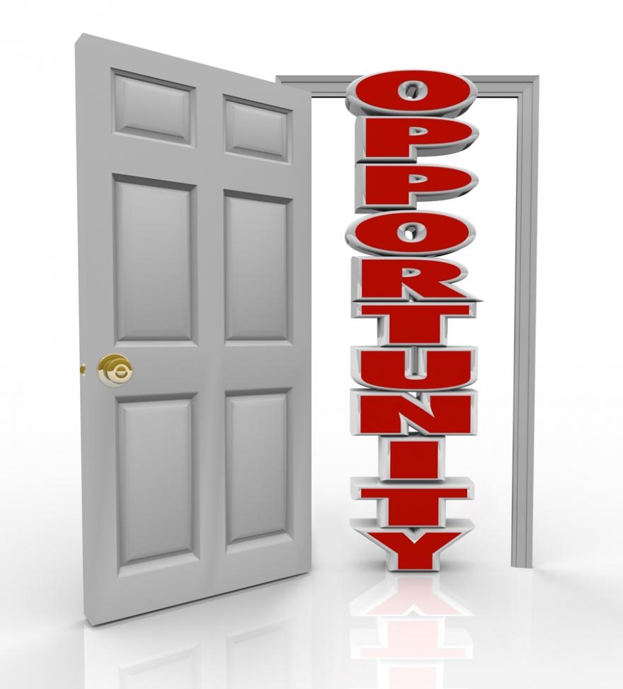 Opportunity knocked door open
