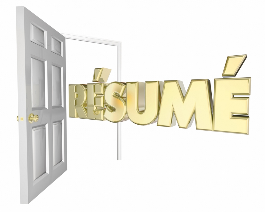 Resume coming through the door