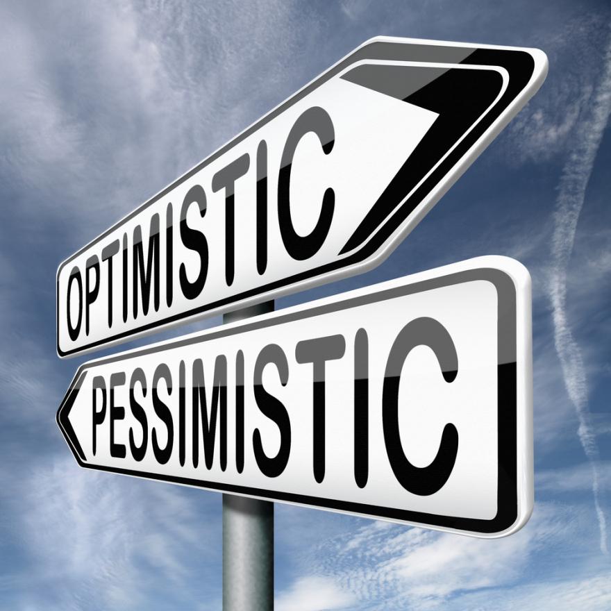 optimistic pessimistic roadsigns