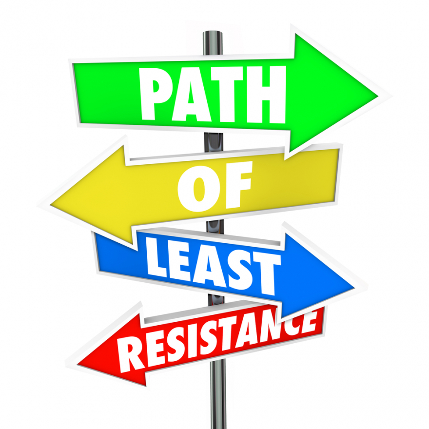 path of least resistence