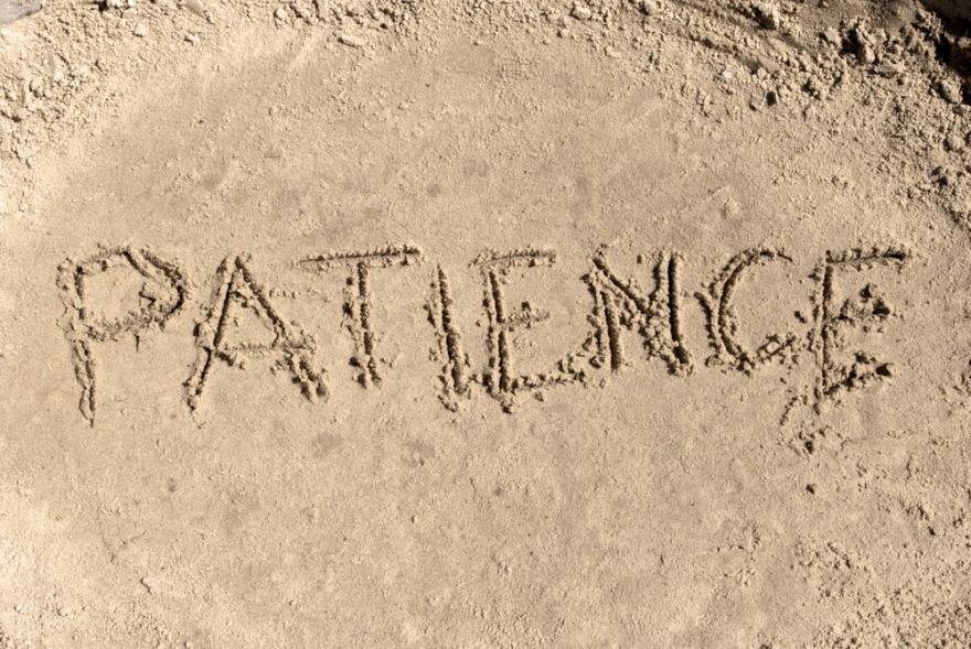 patience written in sand
