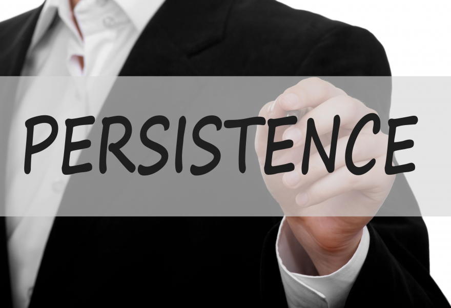 persistence written in marker