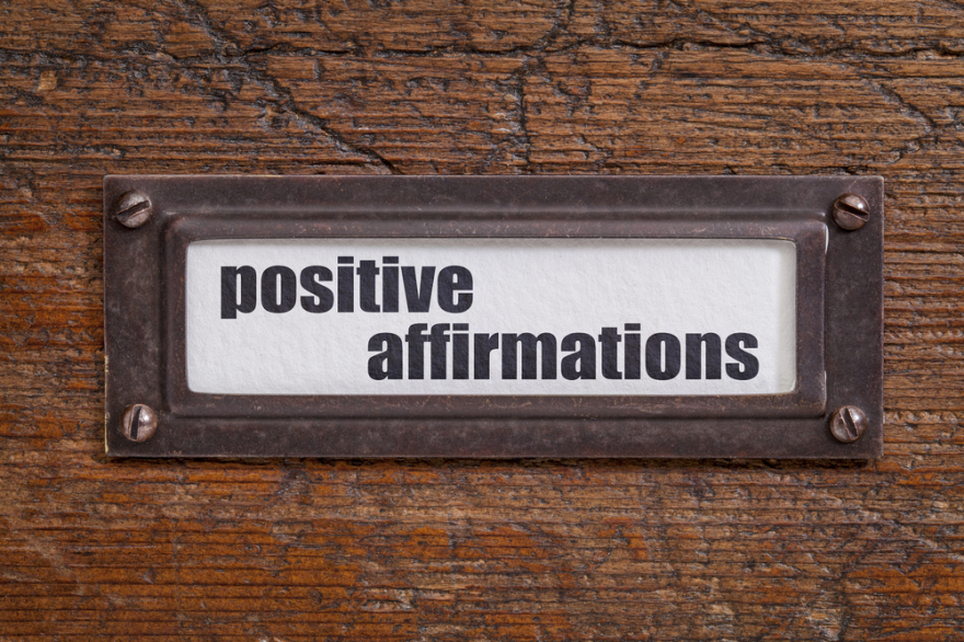 positive affirmations label