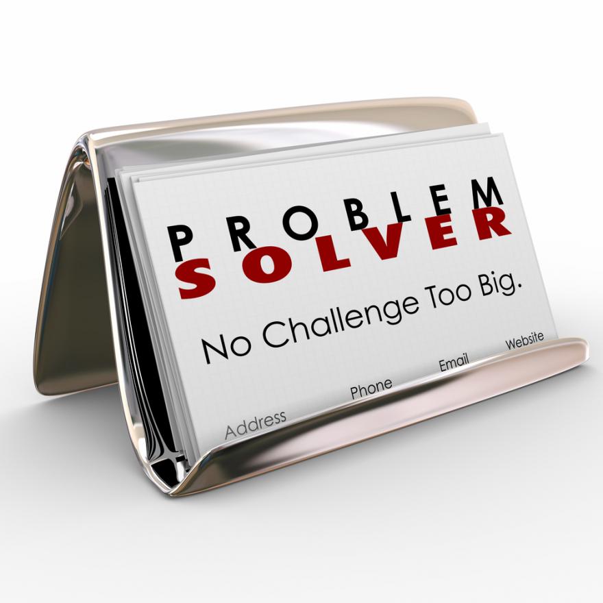 Problem Solver Business Card Holder