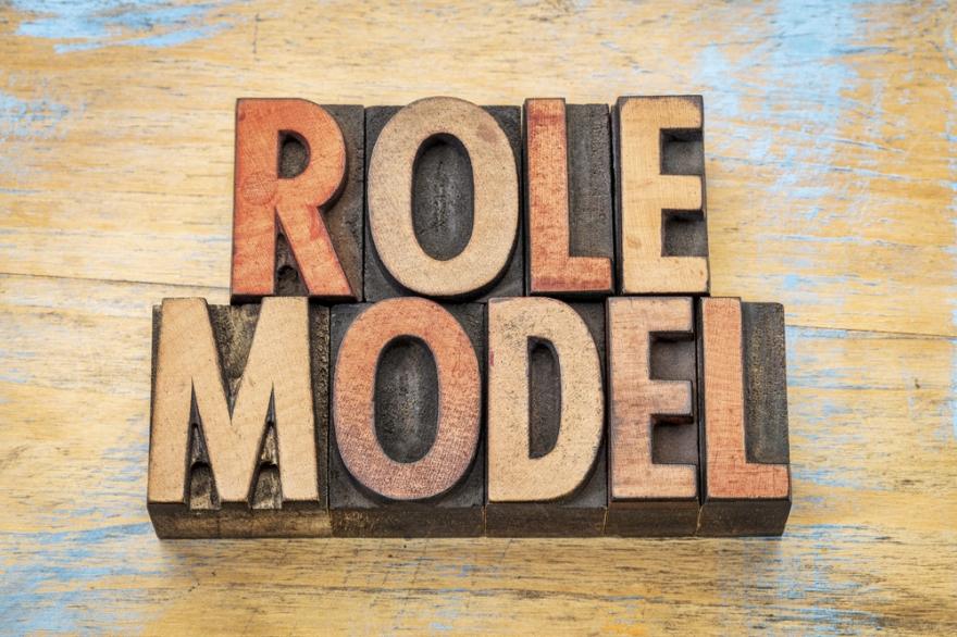 role model written in wood