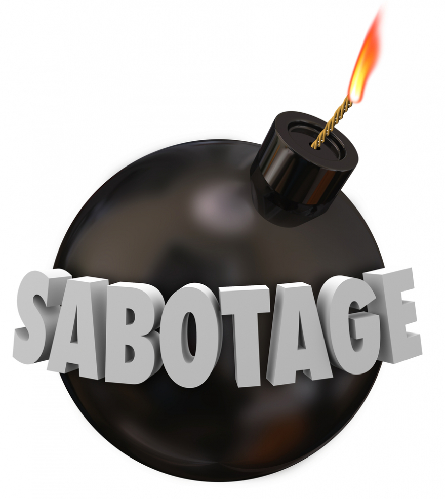 sabotage in 3d letters