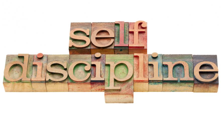 self-discipline engraved in blocks