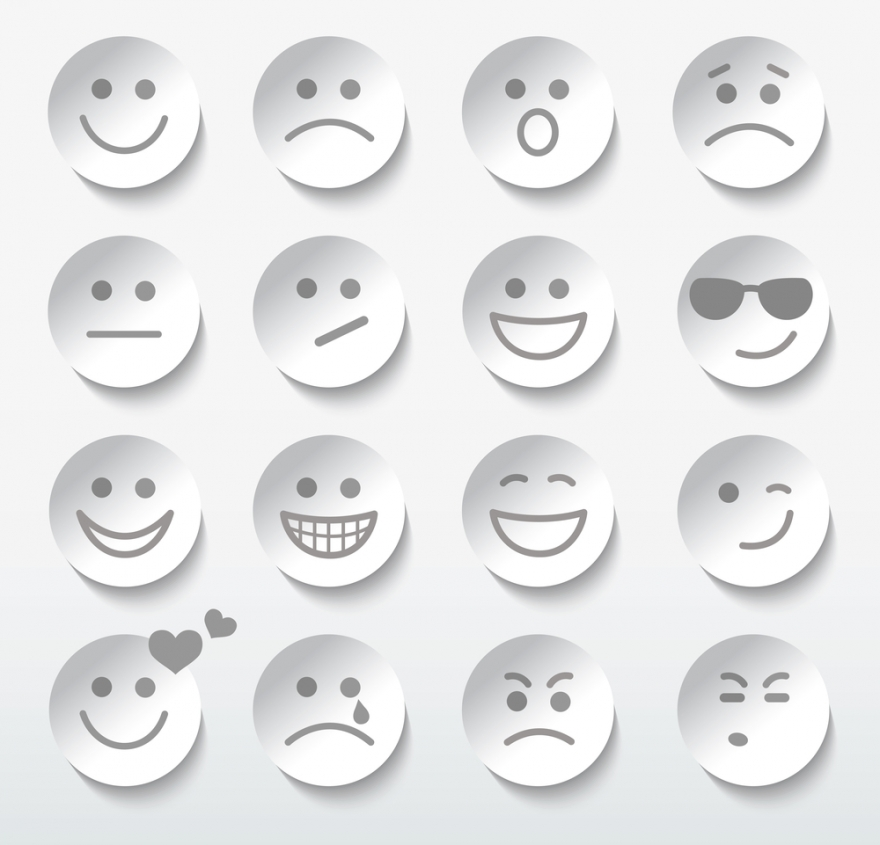 set of faces with emotional expressions