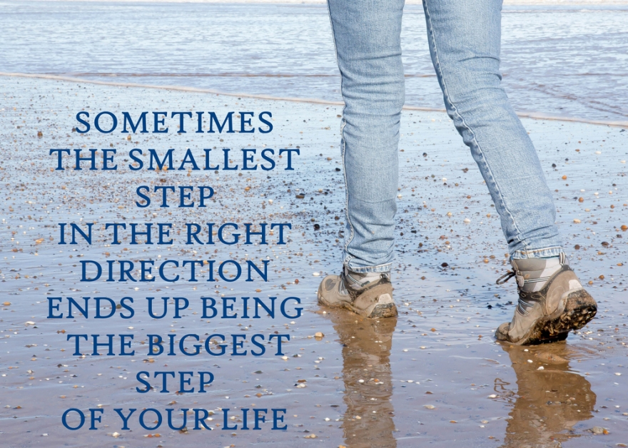 Sometimes the smallest step can make a difference