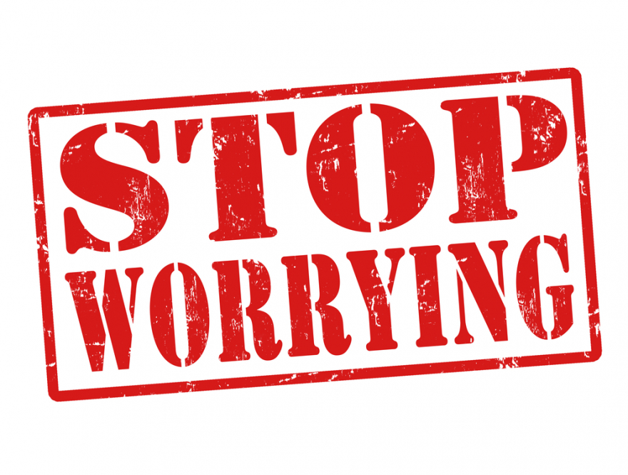 stop worrying stamp