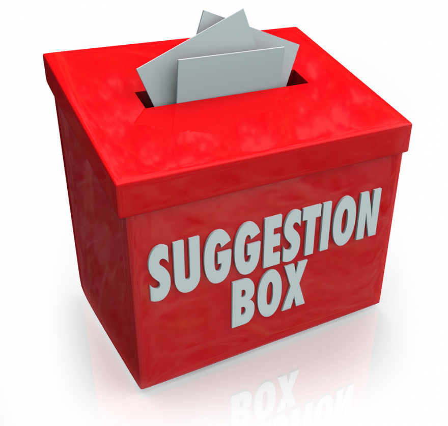 Suggestion box ideas submission box