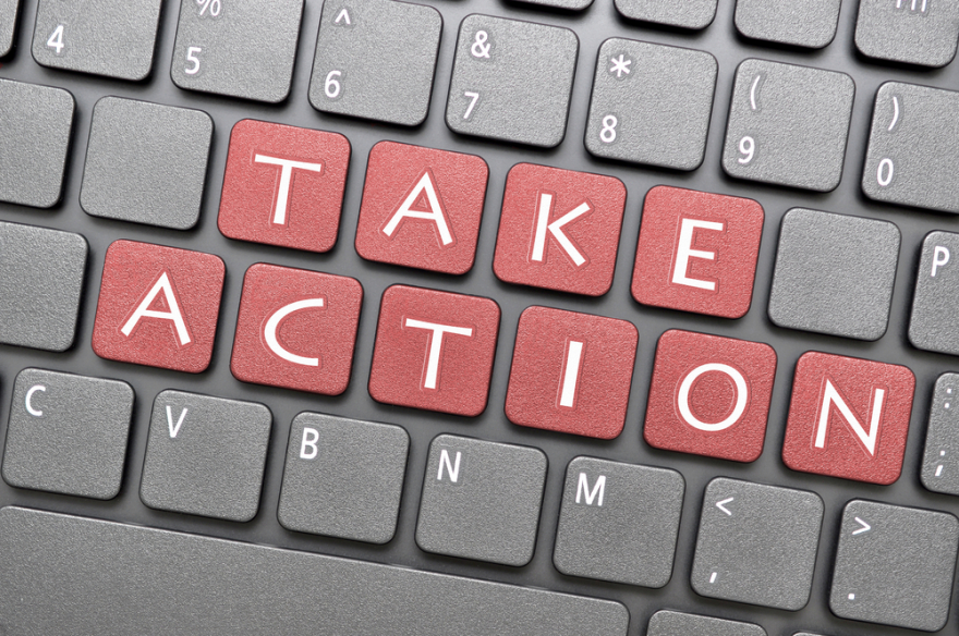 take action on keyboard