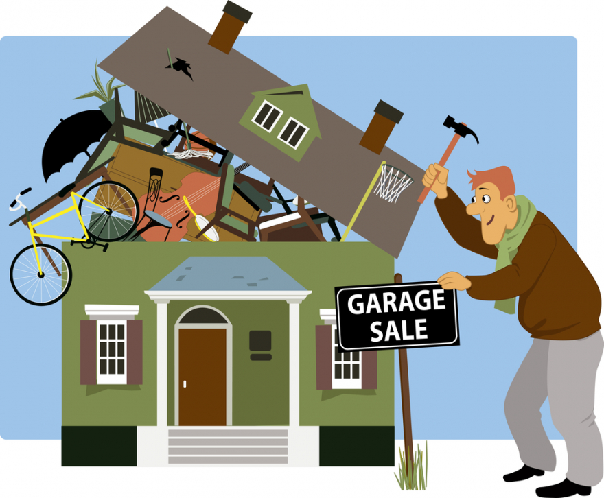 garage sale vector