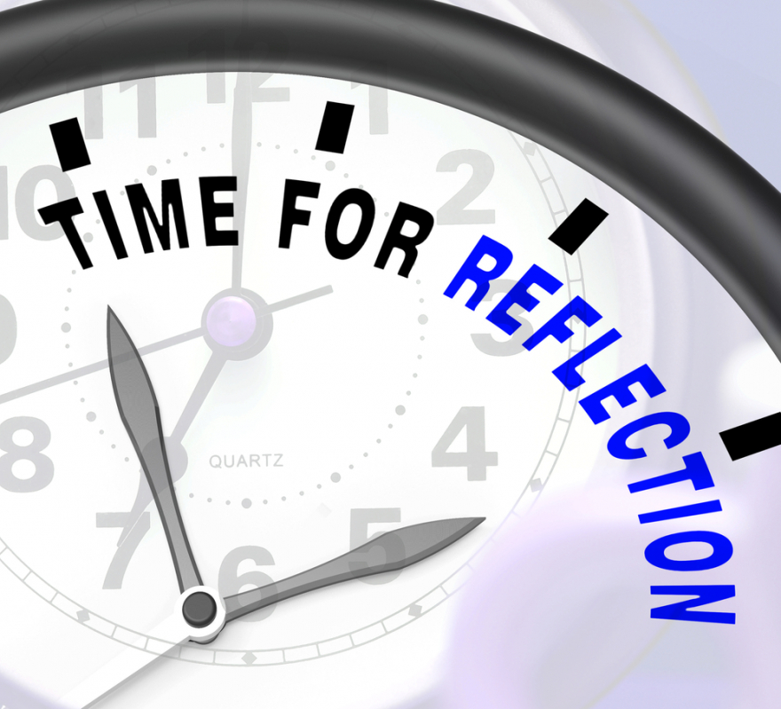 time for reflection message