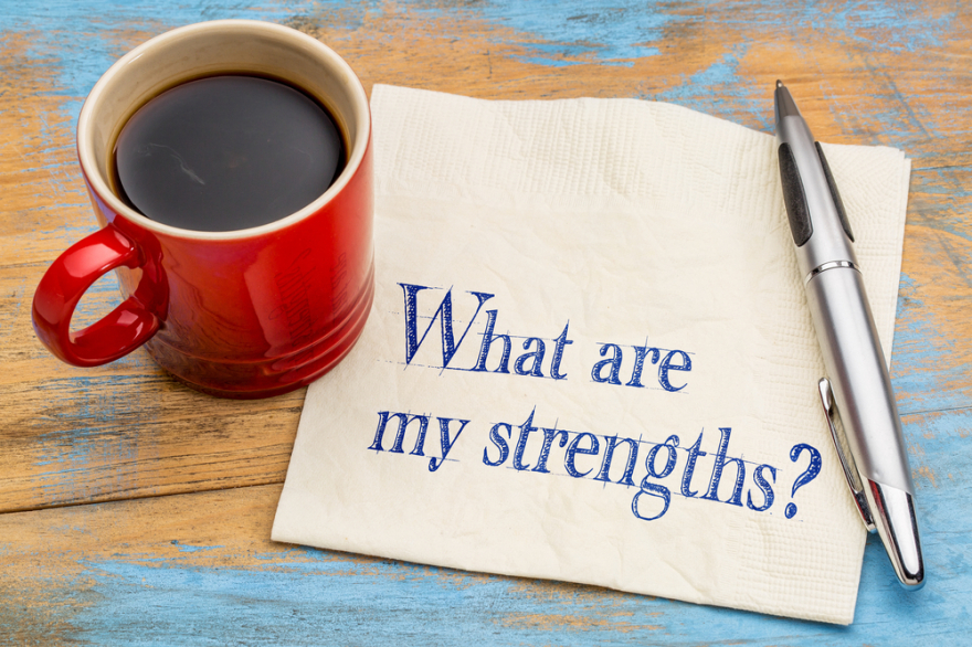 What are your strengths question written on a napkin
