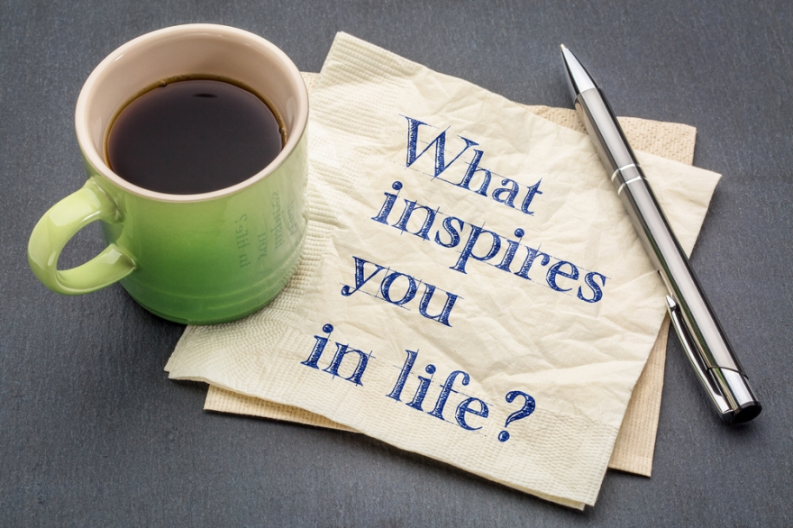 what inspires you in life written on a napkin