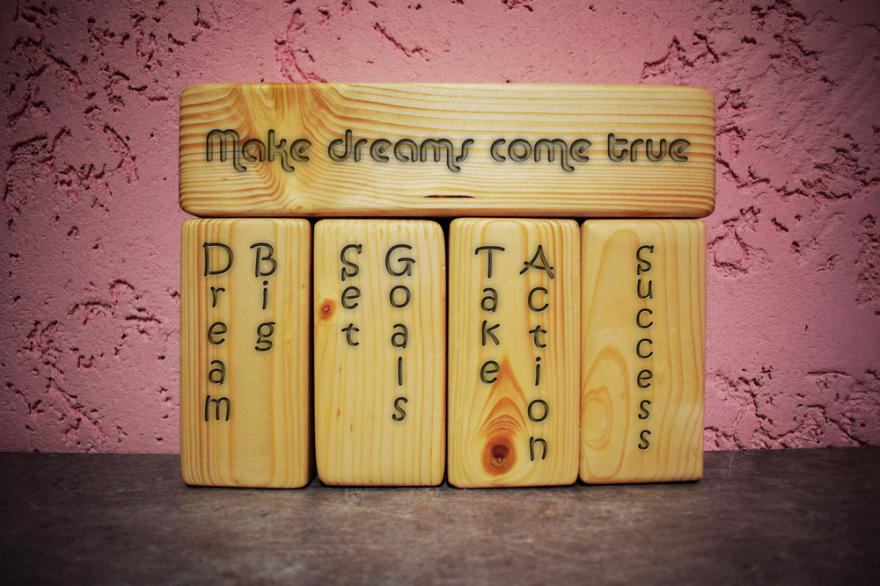 words written on wood
