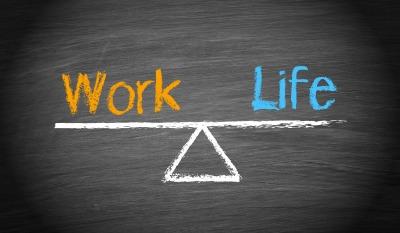 work life balanced on a fulcrum