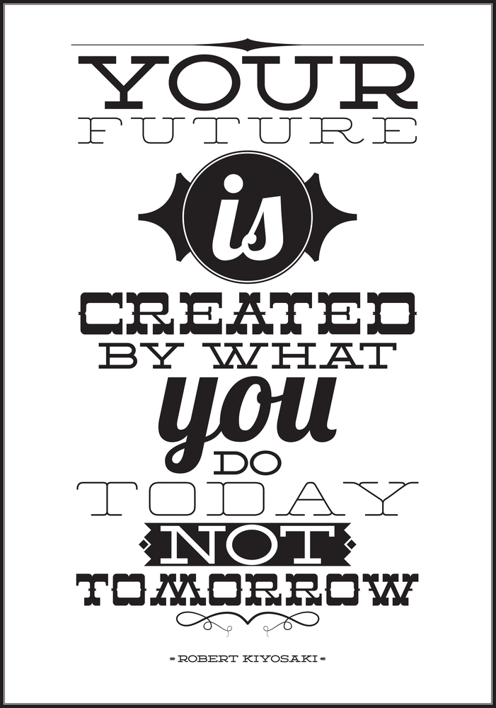 your future is created
