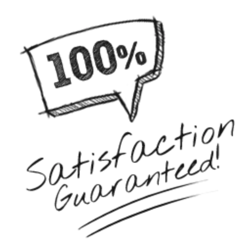 100% Satisfaction Guarantee - Hand Drawn Maroon