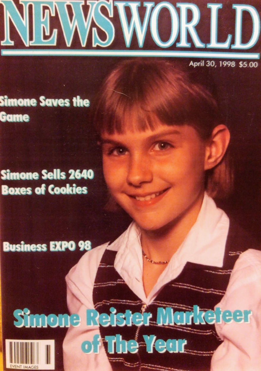 Simone on magazine cover