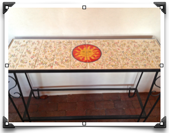 Hand Painted Tile Table