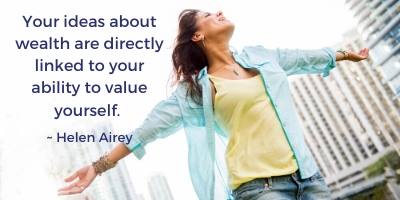 Wealth linked to how you value yourself