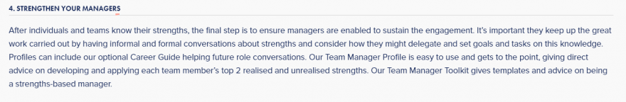 STRENGTHEN YOUR MANAGERS