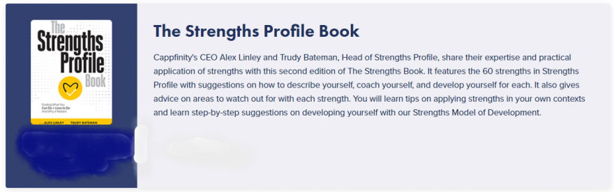 Strengths Profile Book