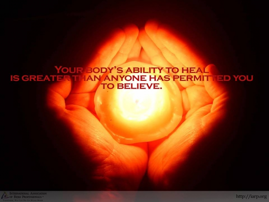 Your body has an innate ability to heal itself