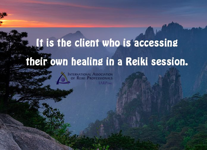 The Reiki client does the healing