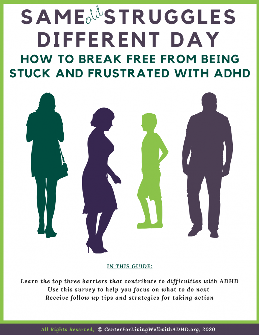 Free Guide: Top Three Barriers of Living Well with ADHD